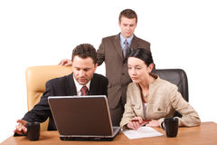 group business people working together laptop office horizontal isolated 509482